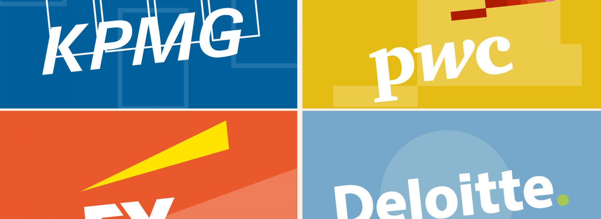 KPMG, DELOITTE, PWC, EY big four, accountancy, montage, FTgraphic